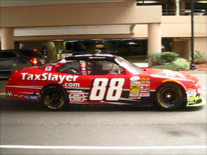 Dale Earnhardt's Number 88 TaxSlayer Car in Jacksonville