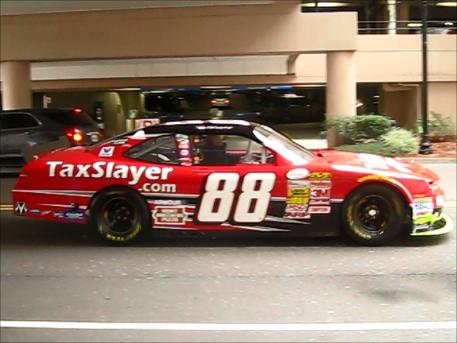 Dale Earnhardt's Number 88 TaxSlayer Car in Jacksonville